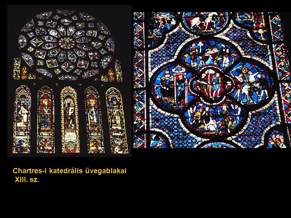 Chartres-i katedrális üvegablakai