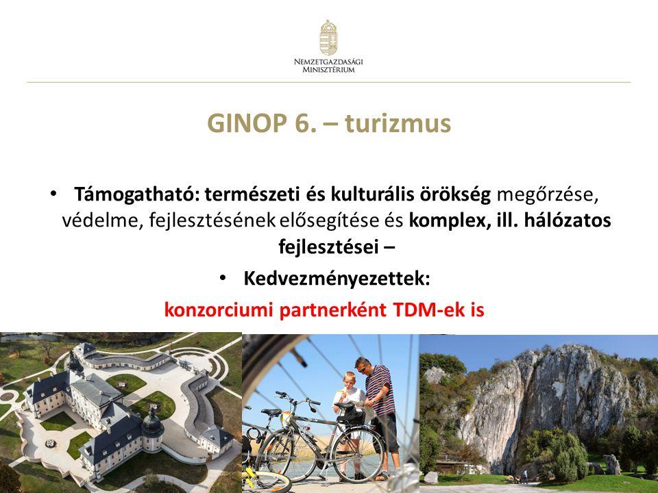 konzorciumi partnerként TDM-ek is
