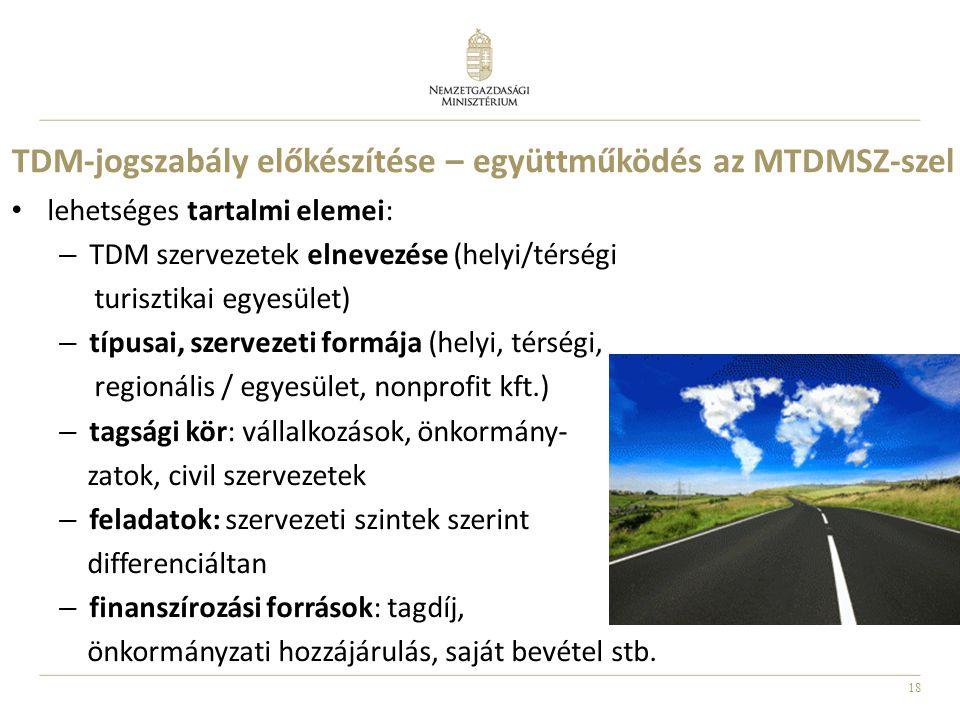 TDM-jogszabály előkészítése – együttműködés az MTDMSZ-szel