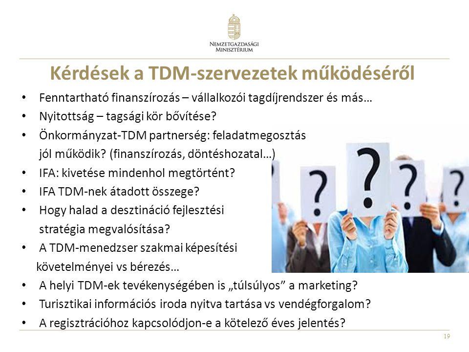 Kérdések a TDM-szervezetek működéséről