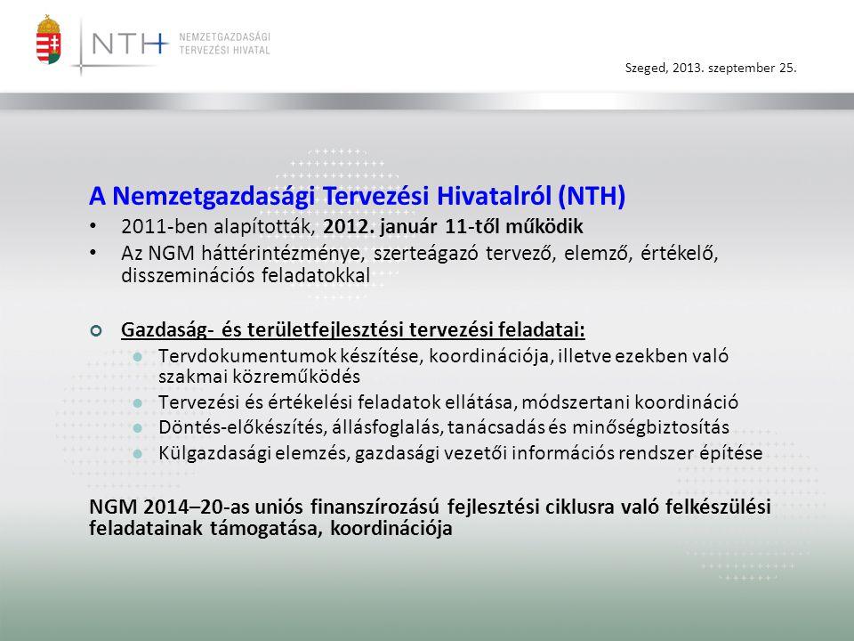 A Nemzetgazdasági Tervezési Hivatalról (NTH)