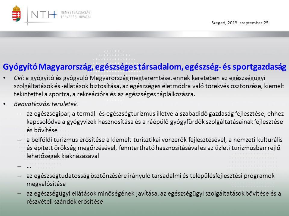Gyógyító Magyarország, egészséges társadalom, egészség- és sportgazdaság