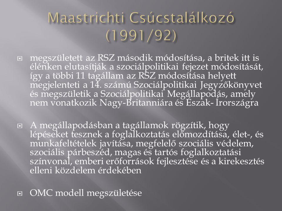 Maastrichti Csúcstalálkozó (1991/92)