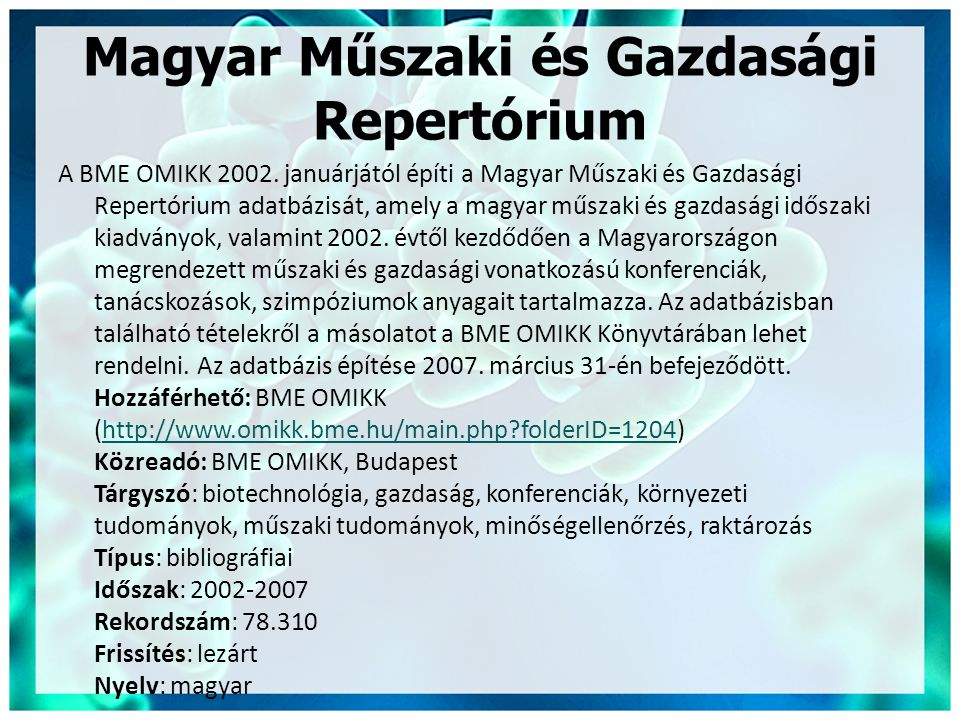 Magyar Műszaki és Gazdasági Repertórium