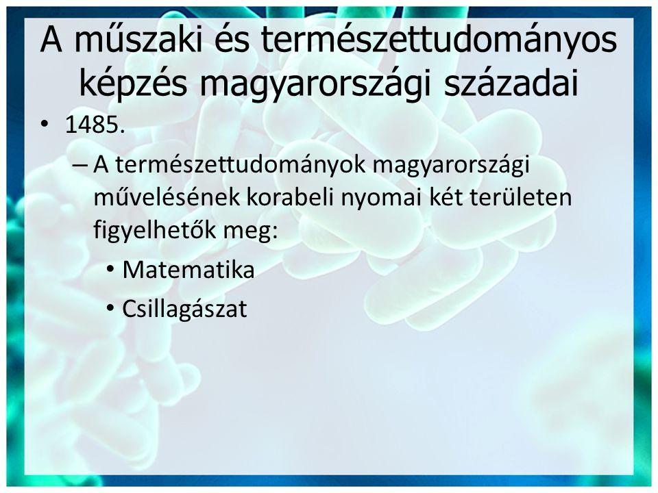 A műszaki és természettudományos képzés magyarországi századai