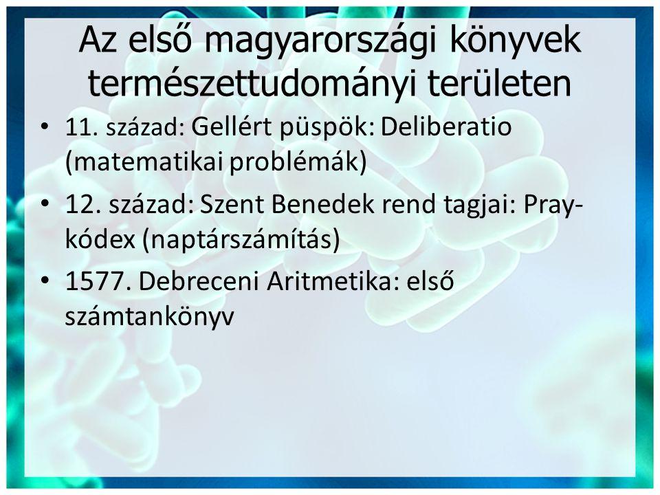 Az első magyarországi könyvek természettudományi területen