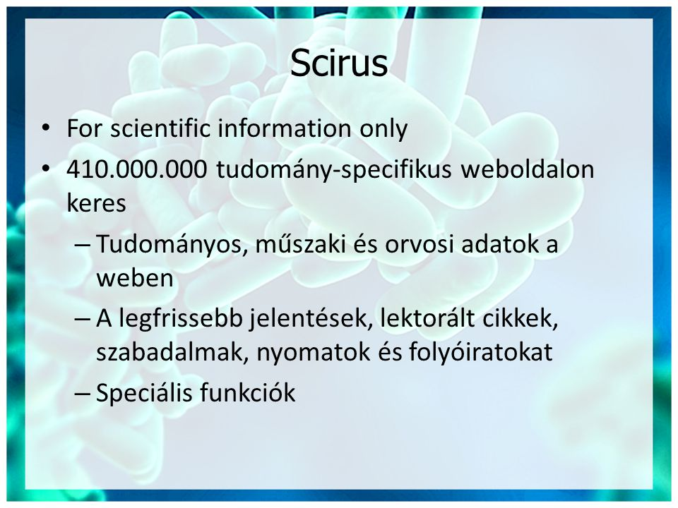 Scirus For scientific information only