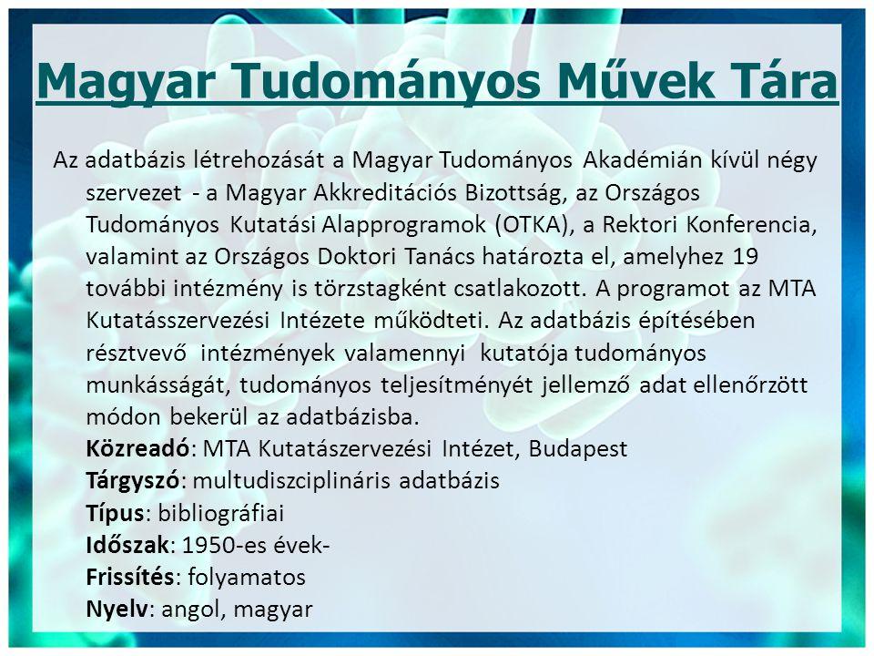 Magyar Tudományos Művek Tára