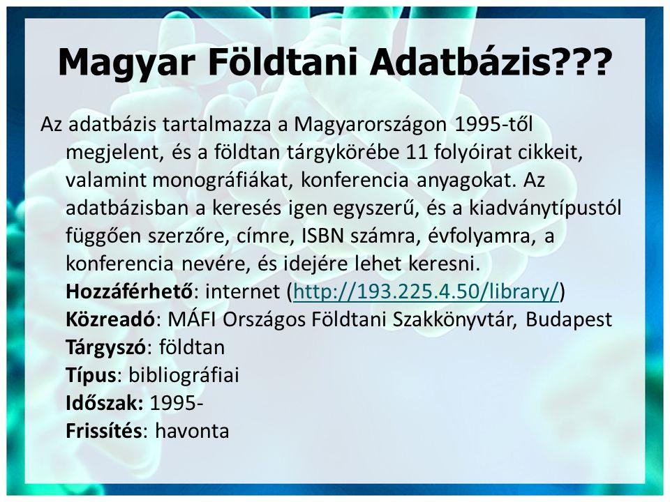 Magyar Földtani Adatbázis