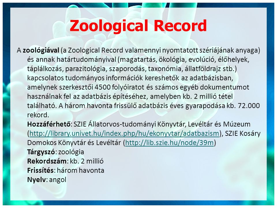 Zoological Record