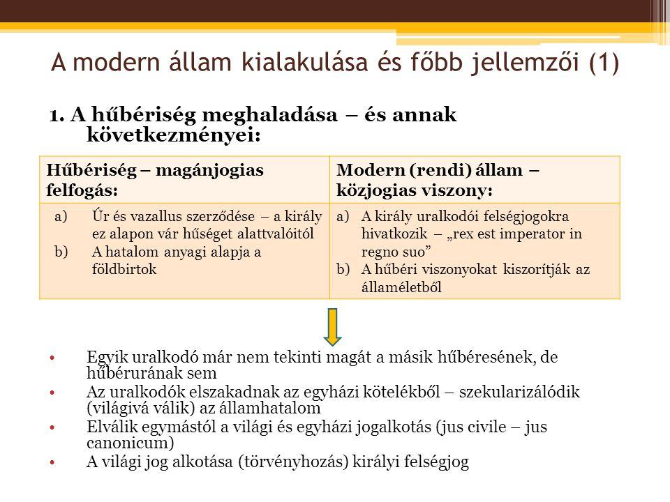 A modern állam kialakulása és főbb jellemzői (1)