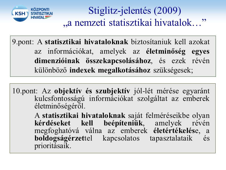 """Stiglitz-jelentés (2009) """"a nemzeti statisztikai hivatalok…"""