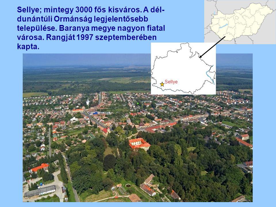 Sellye; mintegy 3000 fős kisváros