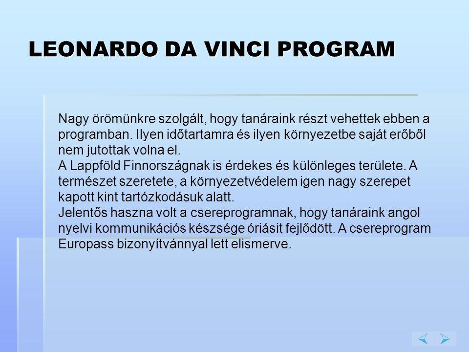 LEONARDO DA VINCI PROGRAM