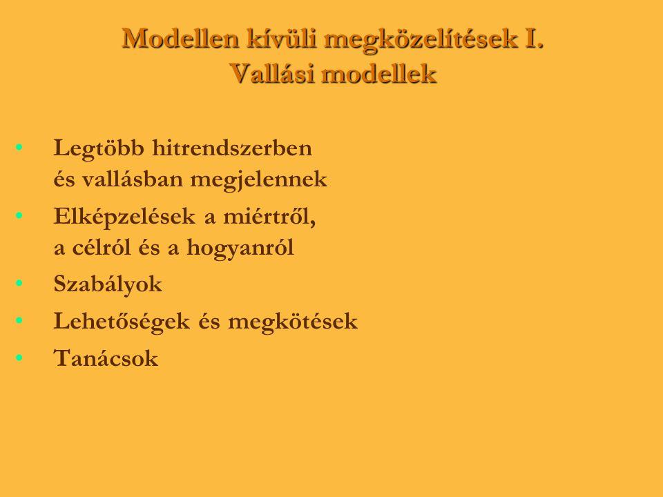 Modellen kívüli megközelítések I. Vallási modellek