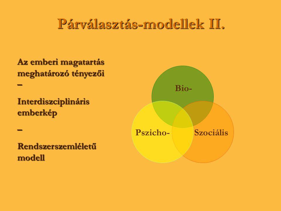 Párválasztás-modellek II.