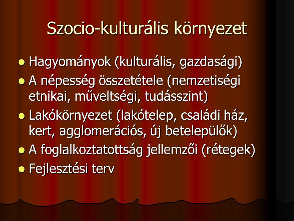 Szocio-kulturális környezet