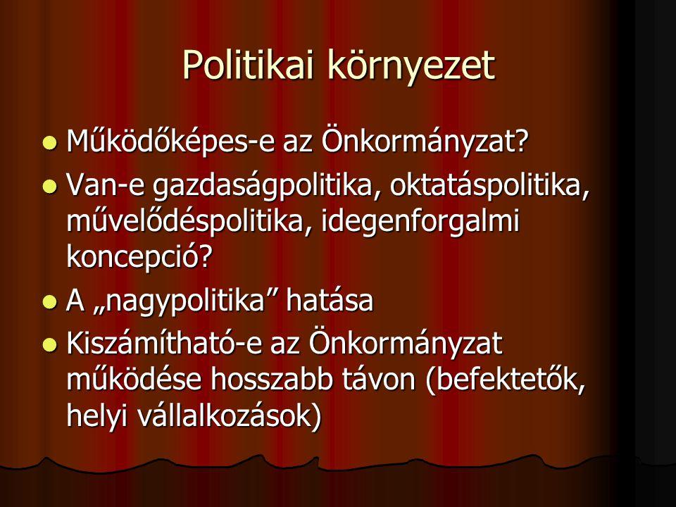 Politikai környezet Működőképes-e az Önkormányzat