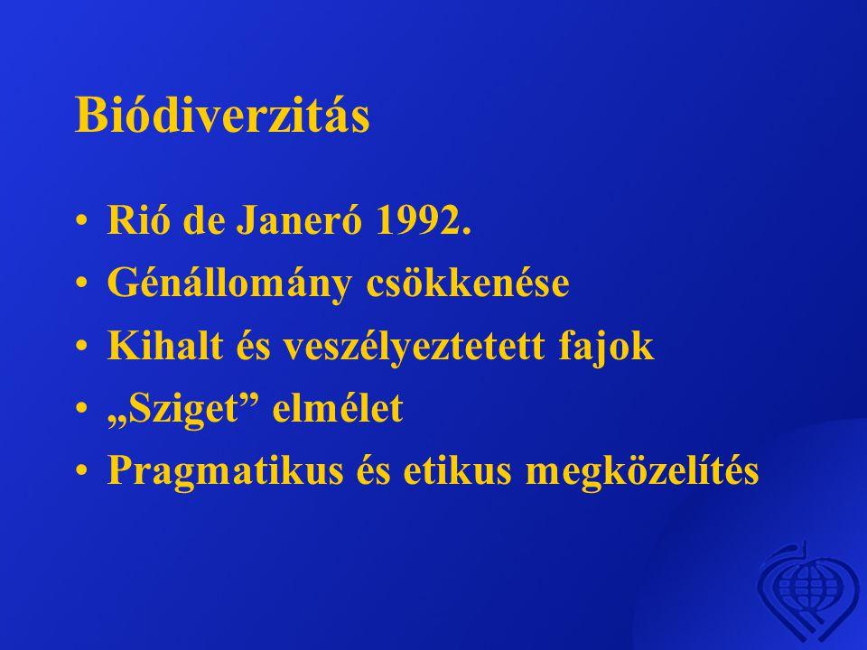 Biódiverzitás Rió de Janeró 1992. Génállomány csökkenése