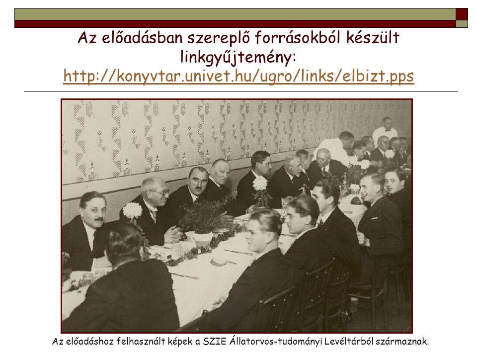 Az előadásban szereplő forrásokból készült linkgyűjtemény: http://konyvtar.univet.hu/ugro/links/elbizt.pps