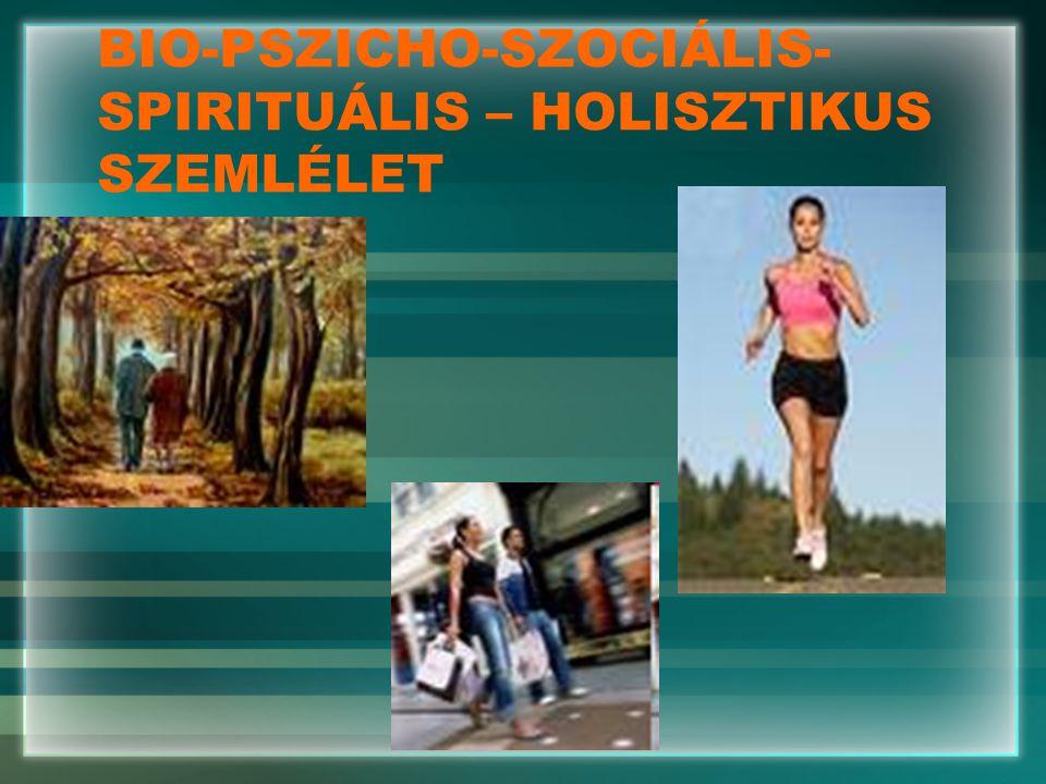 BIO-PSZICHO-SZOCIÁLIS- SPIRITUÁLIS – HOLISZTIKUS SZEMLÉLET