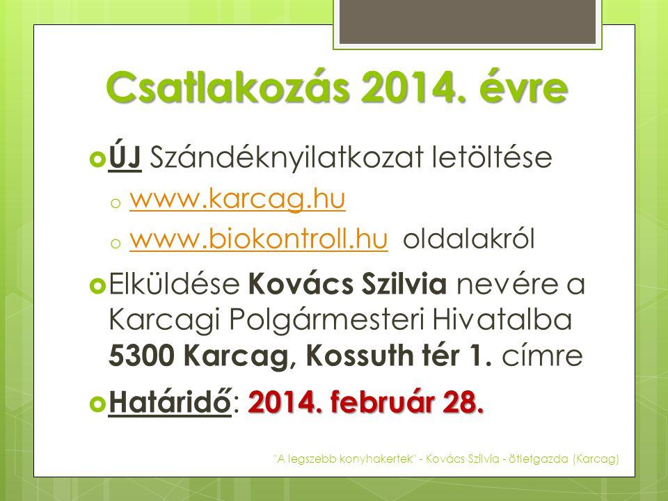 Csatlakozás 2014. évre ÚJ Szándéknyilatkozat letöltése