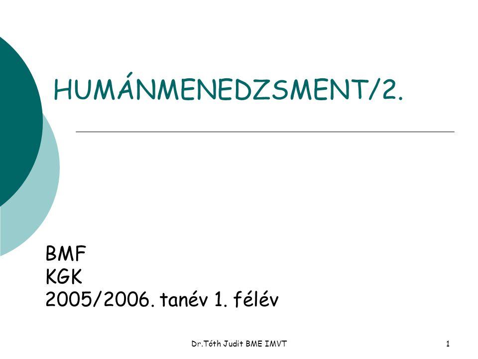 HUMÁNMENEDZSMENT/2. BMF KGK 2005/2006. tanév 1. félév