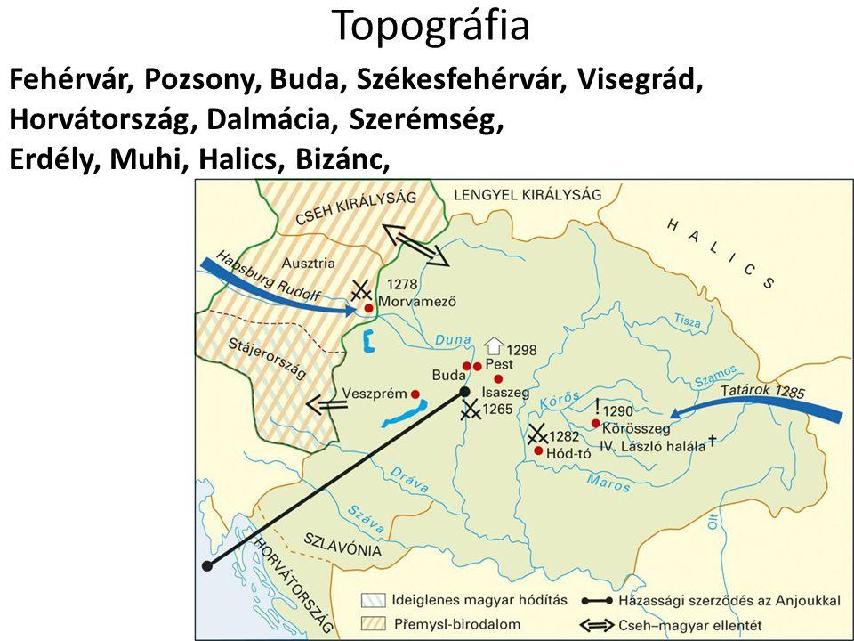Topográfia Fehérvár, Pozsony, Buda, Székesfehérvár, Visegrád,