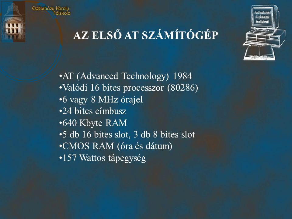 AZ ELSŐ AT SZÁMÍTÓGÉP AT (Advanced Technology) 1984
