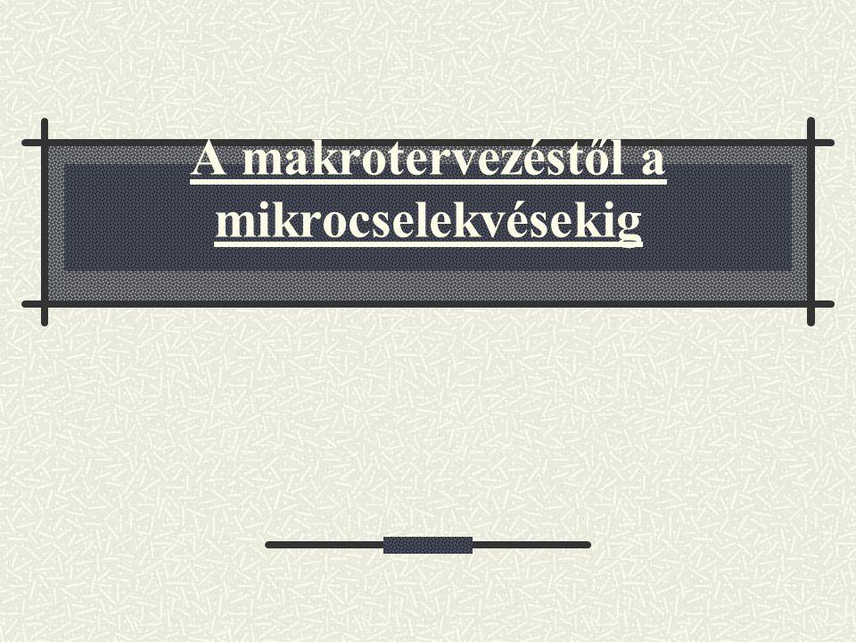 A makrotervezéstől a mikrocselekvésekig