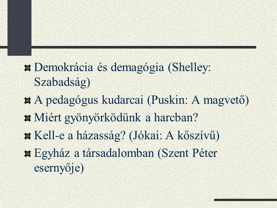Demokrácia és demagógia (Shelley: Szabadság)