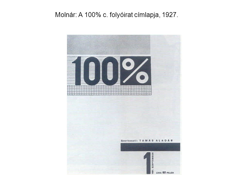Molnár: A 100% c. folyóirat címlapja, 1927.