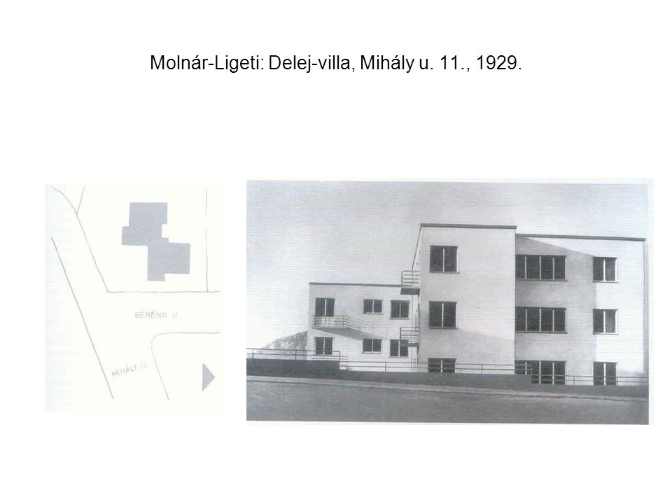 Molnár-Ligeti: Delej-villa, Mihály u. 11., 1929.