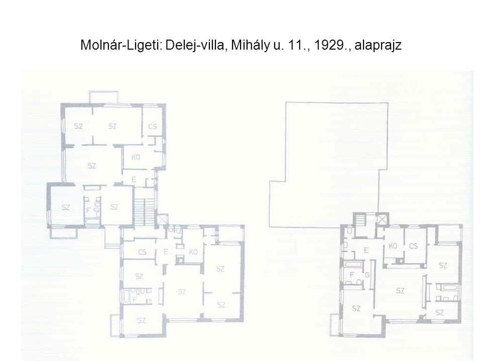 Molnár-Ligeti: Delej-villa, Mihály u. 11., 1929., alaprajz