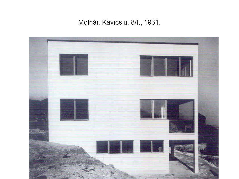 Molnár: Kavics u. 8/f., 1931.