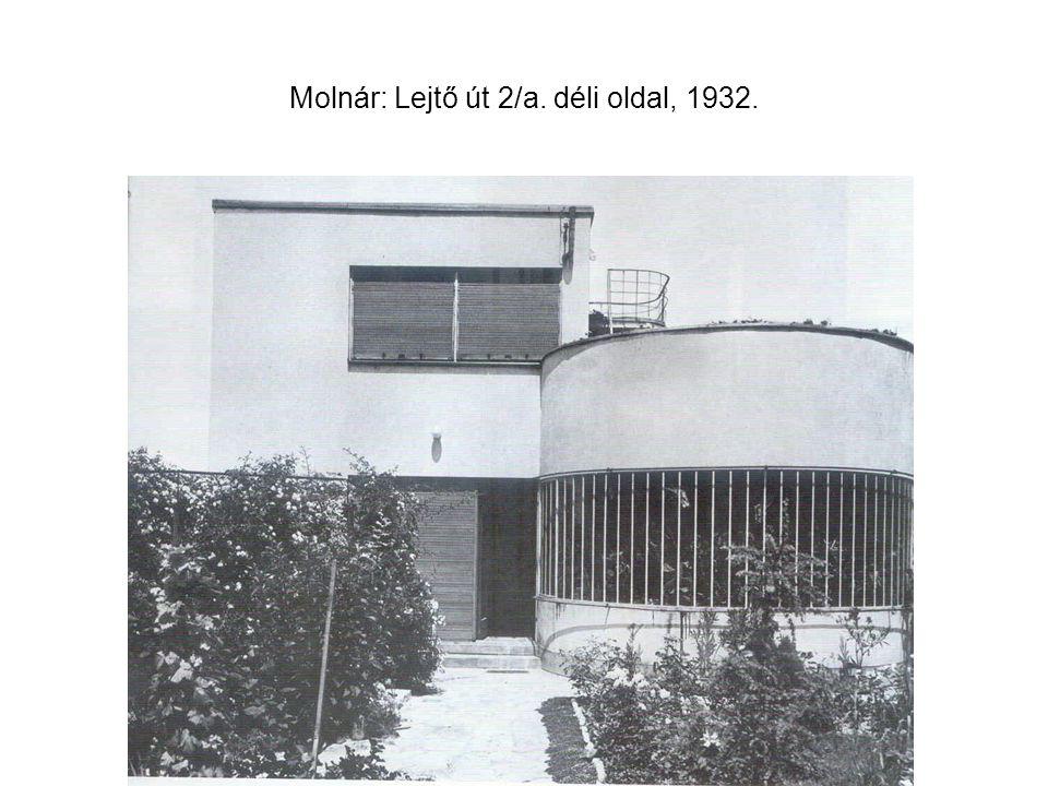 Molnár: Lejtő út 2/a. déli oldal, 1932.
