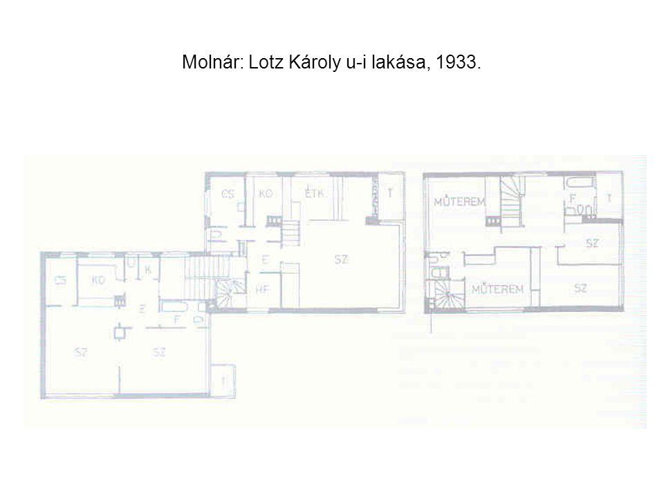 Molnár: Lotz Károly u-i lakása, 1933.