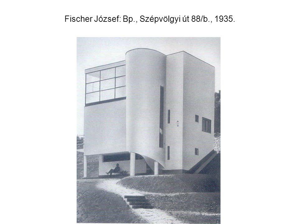 Fischer József: Bp., Szépvölgyi út 88/b., 1935.