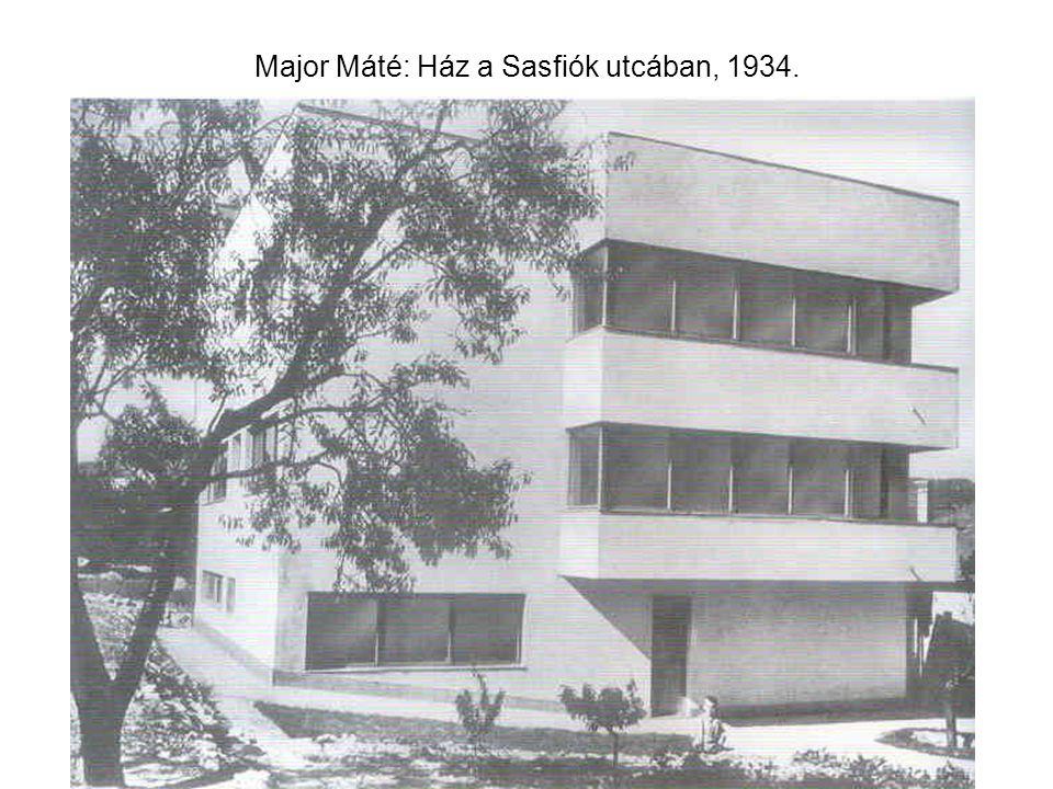 Major Máté: Ház a Sasfiók utcában, 1934.