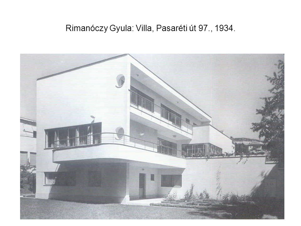 Rimanóczy Gyula: Villa, Pasaréti út 97., 1934.