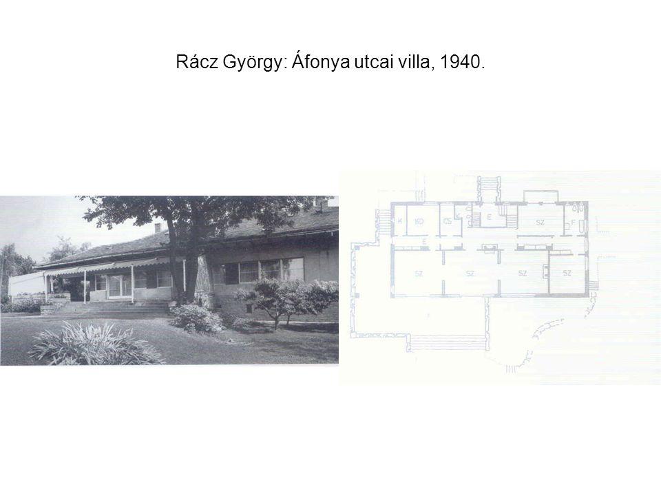 Rácz György: Áfonya utcai villa, 1940.