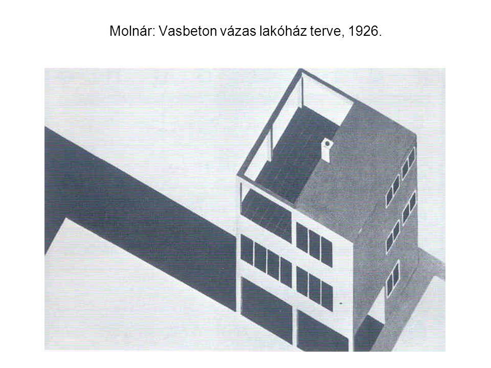 Molnár: Vasbeton vázas lakóház terve, 1926.