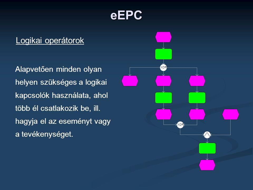 eEPC Logikai operátorok