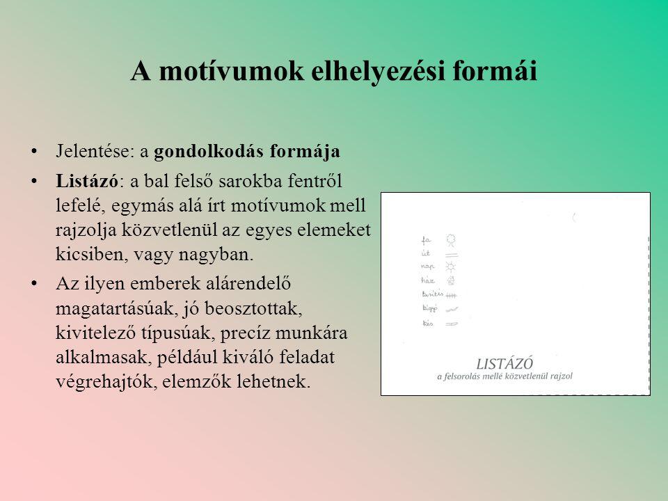 A motívumok elhelyezési formái