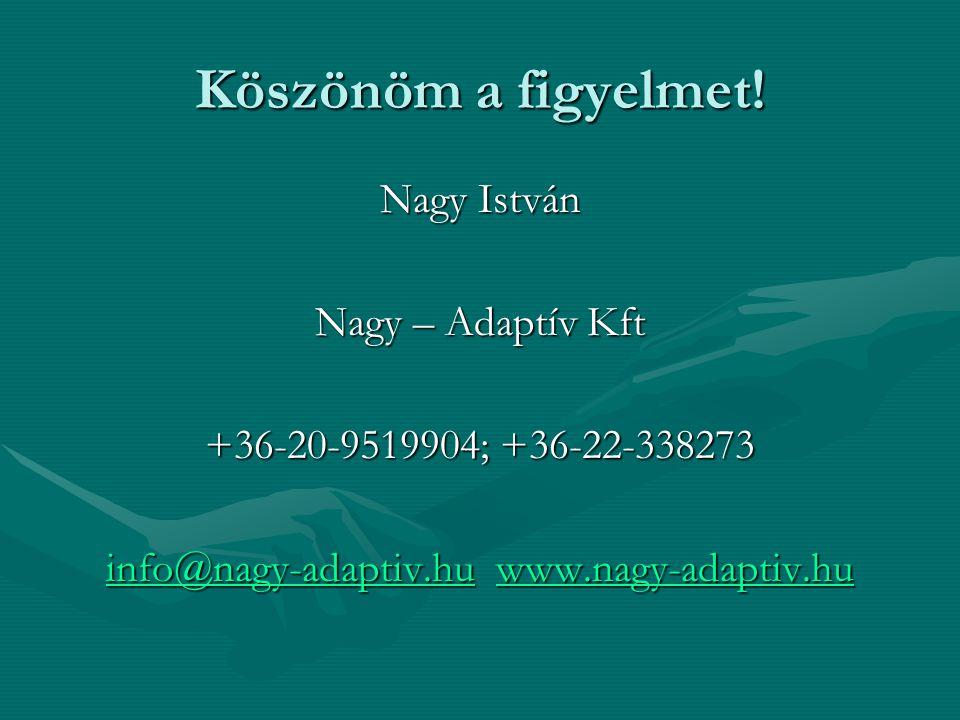 info@nagy-adaptiv.hu www.nagy-adaptiv.hu