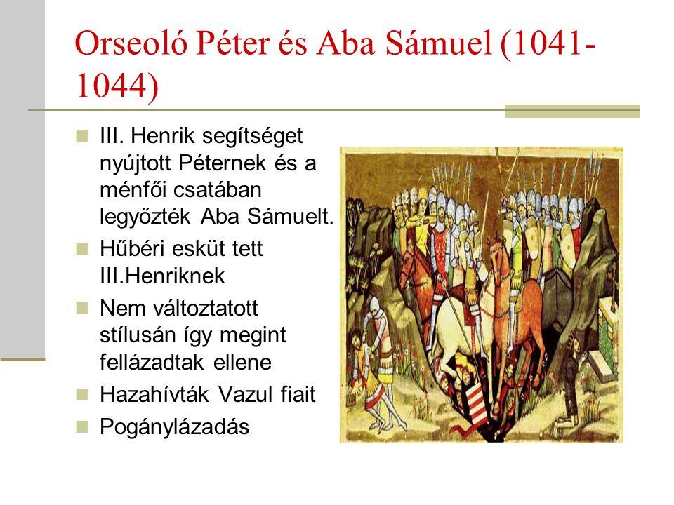 Orseoló Péter és Aba Sámuel (1041-1044)