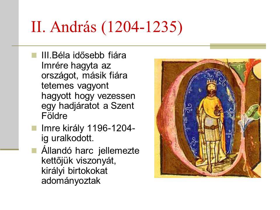 II. András (1204-1235)
