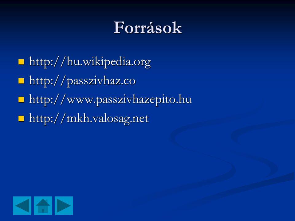 Források http://hu.wikipedia.org http://passzivhaz.co