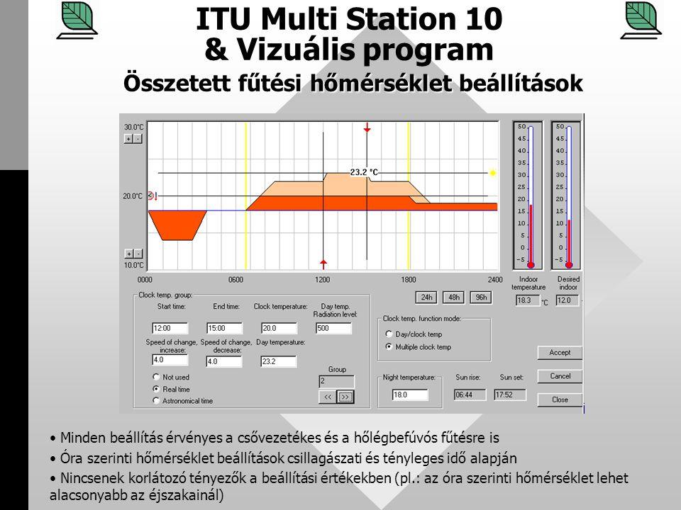 ITU Multi Station 10 & Vizuális program Összetett fűtési hőmérséklet beállítások
