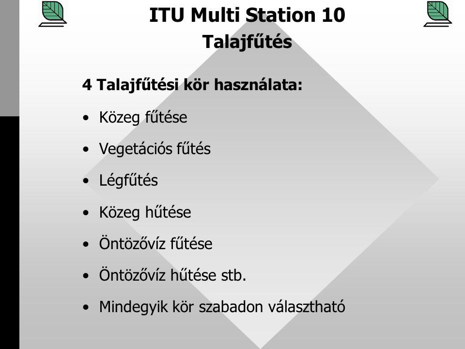 ITU Multi Station 10 Talajfűtés 4 Talajfűtési kör használata: